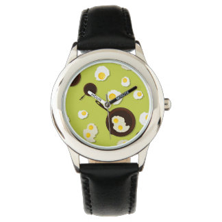 Fried Eggs Fun Food Design Wrist Watches