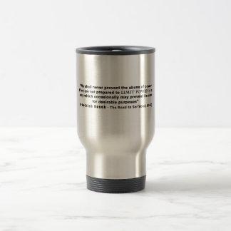 Friedrich Hayek Road to Serfdom Limit Power Quote Travel Mug