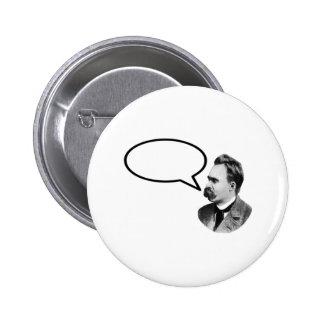 Friedrich Nietzsche Word Bubble Black jGibney Pinback Buttons