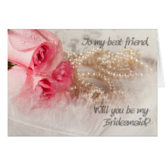 Friend, be my bridesmaid invitation