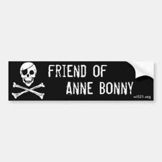 Friend of Anne Bonny bumper sticker