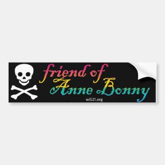 Friend of Anne Bonny bumper sticker (pan pride)
