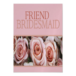 Friend Please be Bridesmaid Magnetic Invitations