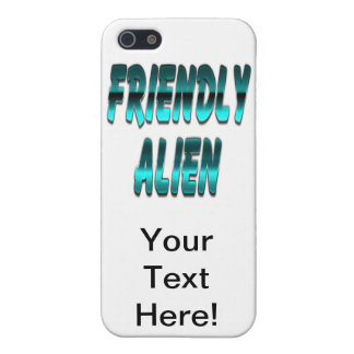 Friendly Alien Blue iPhone 5 Covers