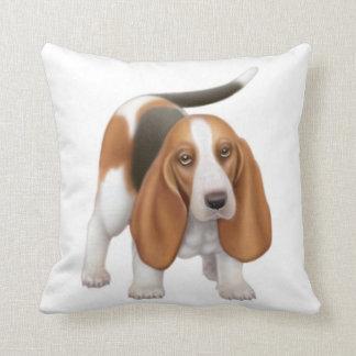 Friendly Basset Hound Pillow