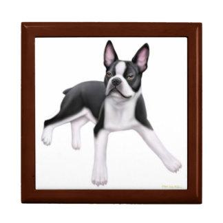Friendly Boston Terrier Dog Gift Box