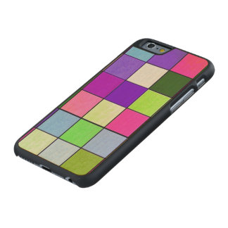 friendly checks colorful carved® maple iPhone 6 case