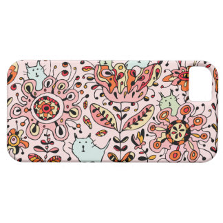 Friendly Flower Cats Pink iPhone 5 Case