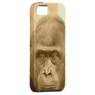 friendly gorilla, sepia case for the iPhone 5