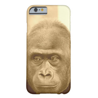friendly gorilla, sepia barely there iPhone 6 case