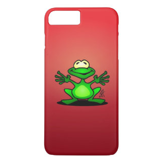 Friendly green frog iPhone 7 plus case