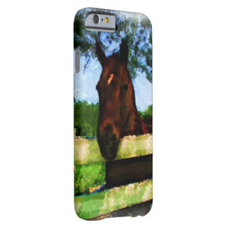 Friendly Horse Over Fence Barely There iPhone 6 Case