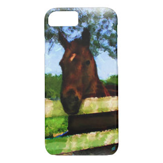 Friendly Horse Over Fence iPhone 7 Case