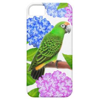 Friendly Jardines Parrot in Hydrangeas iPhone Case iPhone 5 Cases