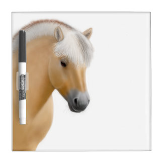 Friendly Norwegian Fjord Horse Dry Erase Board