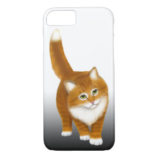Friendly Orange Tabby Cat iPhone 7 Case