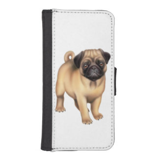 Friendly Pug Dog iPhone Wallet Case iPhone 5 Wallet Cases