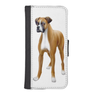 Friendly Young Boxer Dog iPhone Wallet Case Phone Wallet Cases