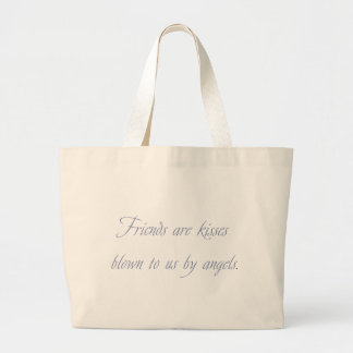Friends are Kisses Large Tote Bag