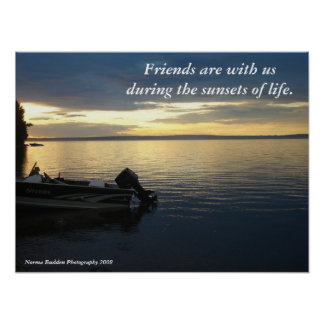 Friends at Sunset Poster