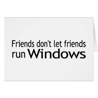Friends Run Windows Card