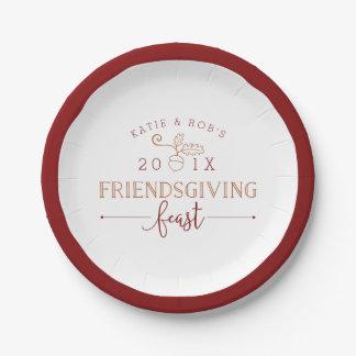 Friendsgiving Feast 7 Inch Paper Plate