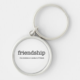 Friendship Definition Silver-Colored Round Key Ring
