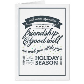 Friendship Grey Card