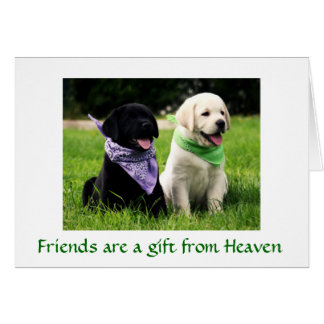 Friendship Labrador Retriever Puppies Card