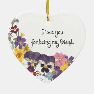 Friendship &  Love Christmas Ornament