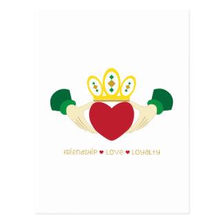 Friendship*Love*Loyalty Postcard