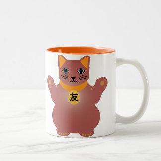 Friendship Lucky Cat Mug