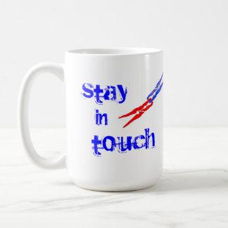 Friendship mug, stay in touch, call me basic white mug