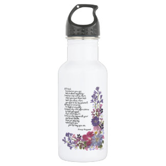 Friendship poem 532 ml water bottle