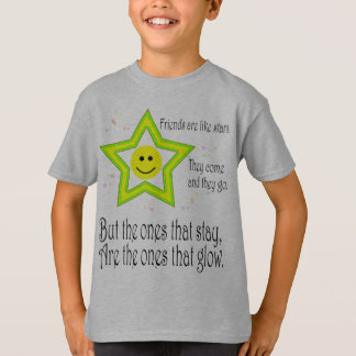 Friendship Quote Smileys Kids' Basic Hanes Tagless T-Shirt