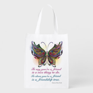 Friendship Reusable Grocery - Gift - Treat Bag Market Tote