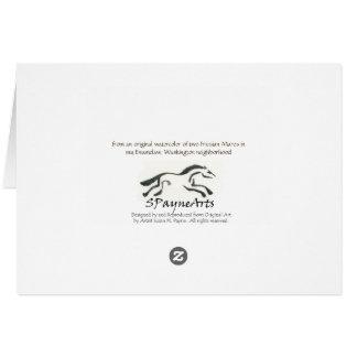 Friesian Horse Card, blank inside, w/envelope Greeting Card