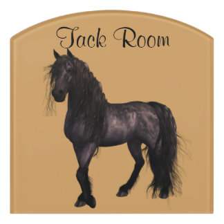 Friesian Horse Room Sign, Customise Colour & Name Door Sign