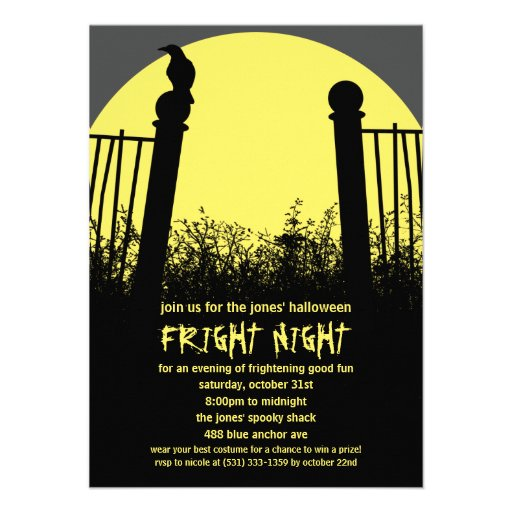 Fright Night Halloween Party Invitation