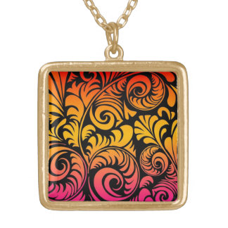 Frilly Fronds 1 Gold Plated Necklace
