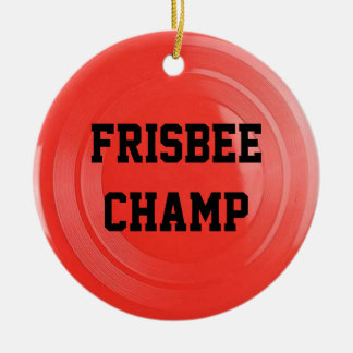 Frisbee Lover Personalised Ornament