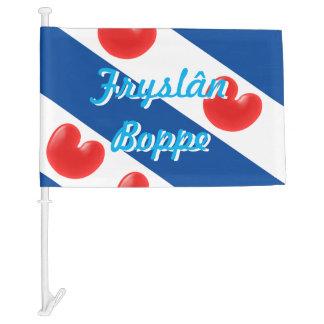 Frisian Flag customizable text Fryslan Boppe Car Flag