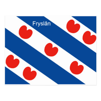 Frisian flag Friesland Holland Postcard