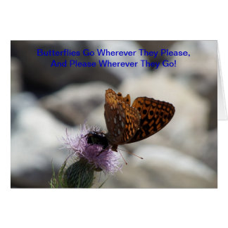Fritillary Butterfly On Thistle Note Card