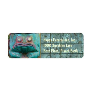 Frog Carving Return Address Label