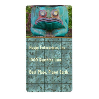 Frog Carving Shipping Label