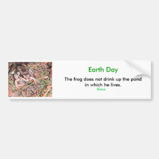 Frog, Earth Day Bumper Sticker