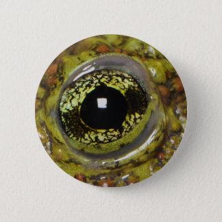 Frog eye photo design. 6 cm round badge