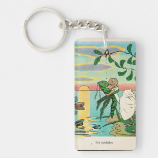 Frog Insect Romantic Seaside Kiss Vintage Key Ring