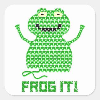 Frog It! Vector Crochet Frog Stickers
